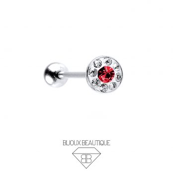 Gem Dome Tongue Barbell – Red