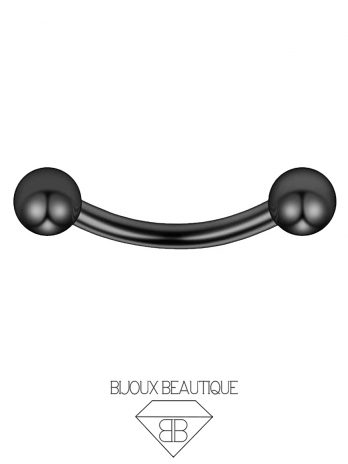 Eyebrow/Ear Curved Barbell – Black