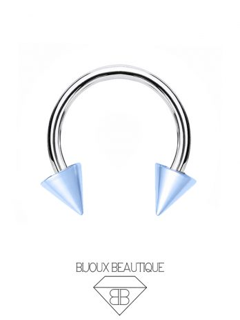 Colored Spike Horseshoe – Blue