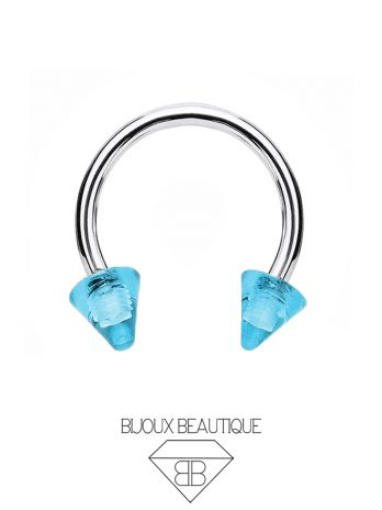 Clear Spike Horseshoe – Blue