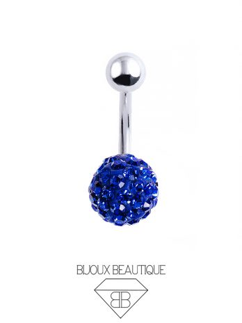 Cluster Ball Navel Belly Button Barbell – Blue