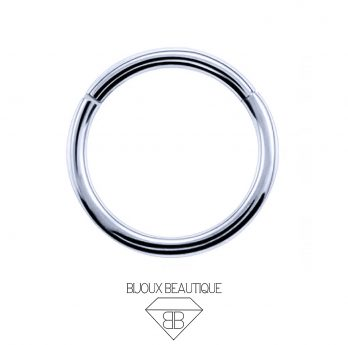 Hoop Hinged Clicker Ring – Silver