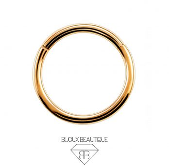 Hoop Hinged Clicker Ring – Rose Gold