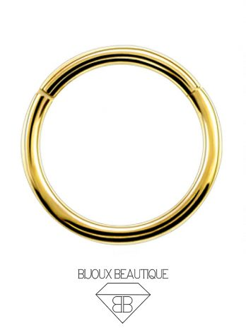 Hoop Hinged Clicker Ring – Gold