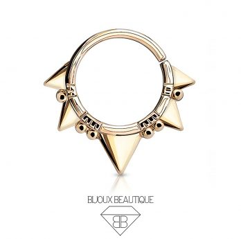 Hoop Bendable Spikes – Rose Gold