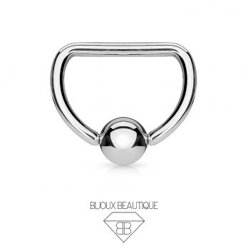 D-Shaped CBR Hoop – Silver